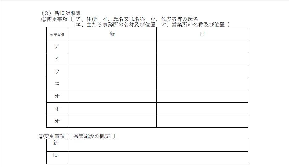 登録事項等変更届出書③